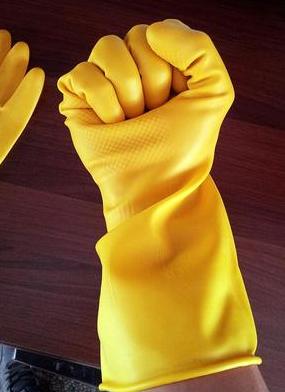 优优   南洋手套加厚牛筋乳胶手套/橡胶洗衣洗碗家务防水手套